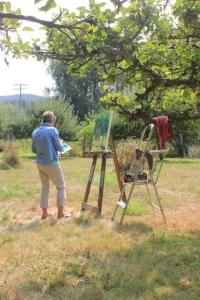 Painter in the Garden